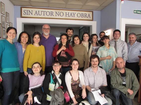 Visita de alumnos de la Diplomatura en Dramaturgia que se cursa en la U.B.A
