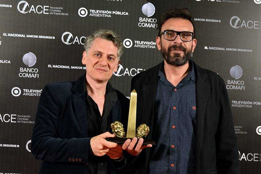 """Leonel Giacometto y Alejandro Viola, ganadores del premio ACE en el rubro """"Autor argentino"""""""